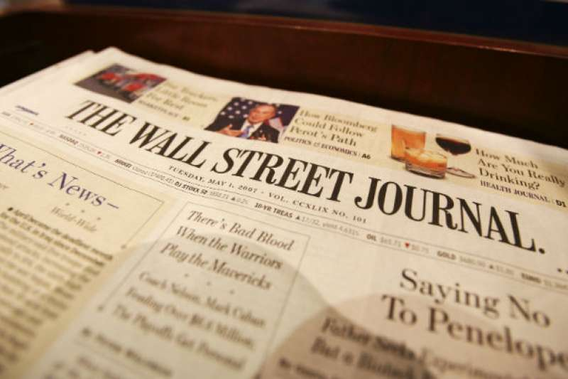 台灣最大政經網路媒體《風傳媒》31日宣布,正式與全球最具影響力的財經媒體《華爾街日報》(The Wall Street Journal)簽訂合作協議,成為華爾街日報在台灣策略合作夥伴。(資料照,美聯社)