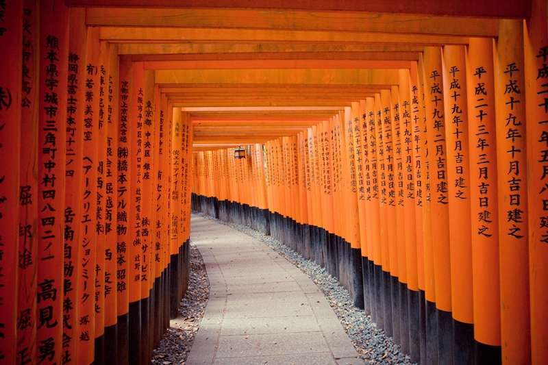 擁有「千本鳥居」的京都伏見稻荷大社連續5年在旅遊網站評比奪冠!(圖/YuZou Huang@flickr)