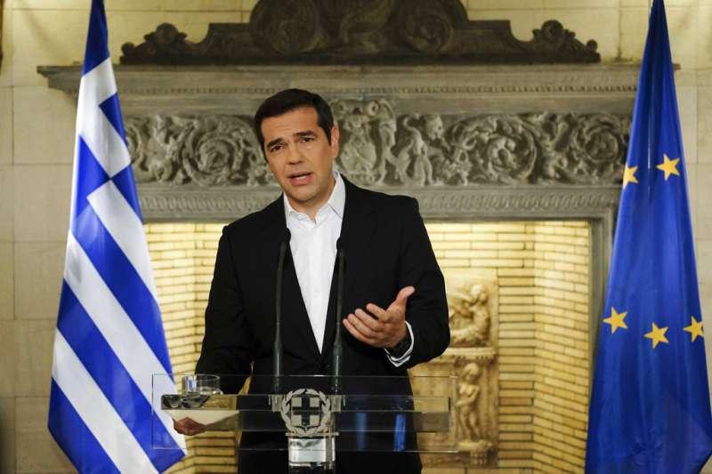 希臘總理齊普拉斯今日在法國史特拉斯堡(Strasbourg)發表演說,堅稱希臘絕不重蹈「浪費和貪腐」的覆轍,會「歷史性地跟過去一刀兩斷,重新開始」。(資料照,圖片來源:AP)