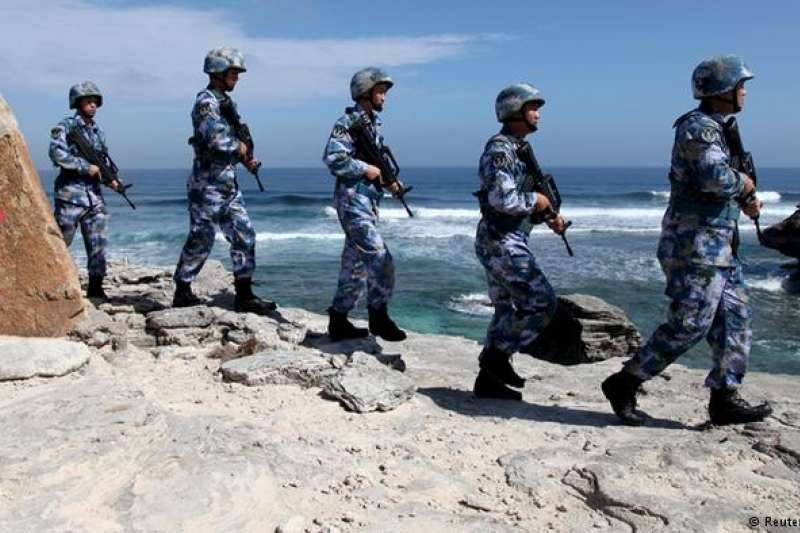 中美因南海和貿易問題而互相指責。(DW)
