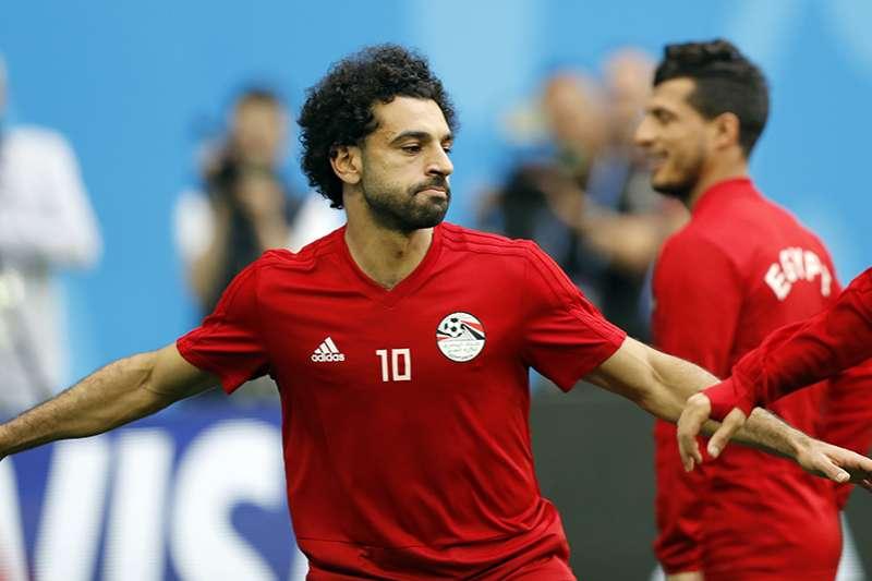 俄羅斯今天將對戰埃及,繼首戰5比0大勝阿拉伯之後,希望能在小組賽持續連勝,需要小心的就是埃及主將薩拉赫。(美聯社)