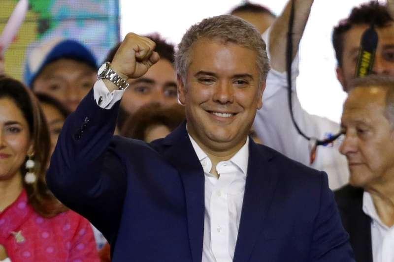 2018年6月17日,哥倫比亞總統第二輪選舉,保守派杜克(Ivan Duque)成為新任總統。(AP)