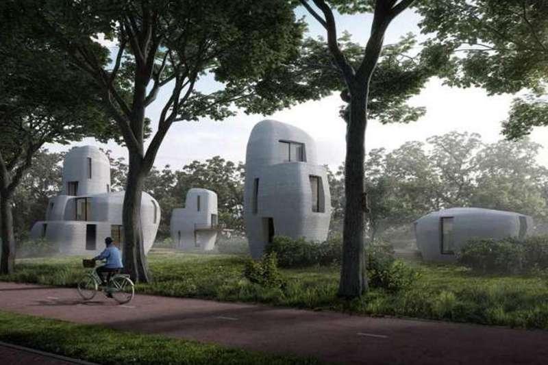 荷蘭打造世界首座真的可以賣給人住的 3D 列印住宅。(圖/智慧機器人網提供)