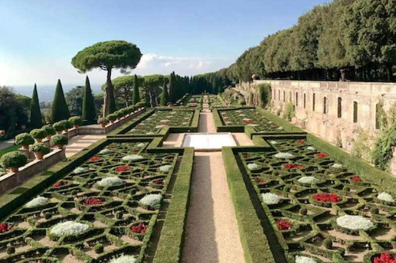 教宗夏宮花園。(曾廣儀攝)