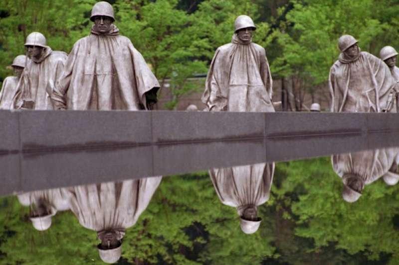 美國華盛頓的韓戰老兵紀念碑(美聯社)