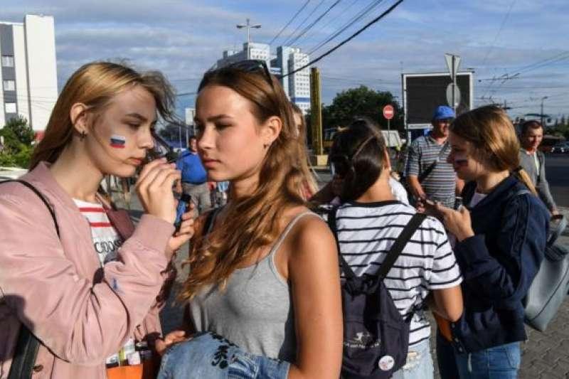 俄羅斯女性球迷。(BBC中文網)