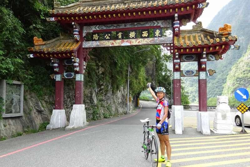 20180623-去年2017年9月,日籍單車愛好者白井寬之,來台灣花蓮太魯閣參加自行車比賽,賽前不幸被落石擊中傷重不治。(白井良一提供)