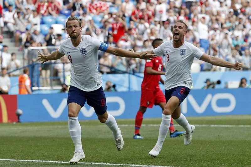英格蘭單場踢進6球創隊史紀錄,不過巴拿馬也踢進隊史在世界盃的第一次進球,讓這場比賽皆大歡喜,雙方球迷欣喜若狂。(美聯社)