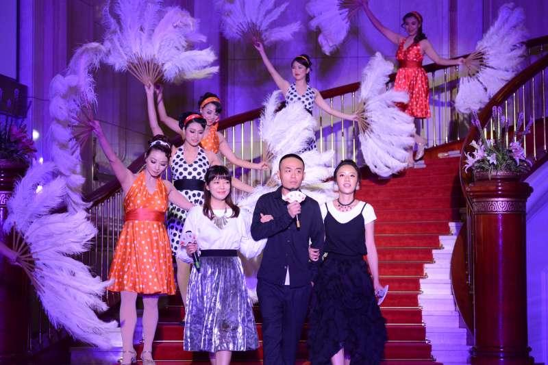 綠光劇團《再會吧北投》開演記者會,演員林雨宣(左起)、楊大正、方宥心。(綠光劇團提供)
