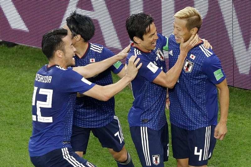 日本在本田圭佑的幫助下踢平塞內加爾。 (美聯社)