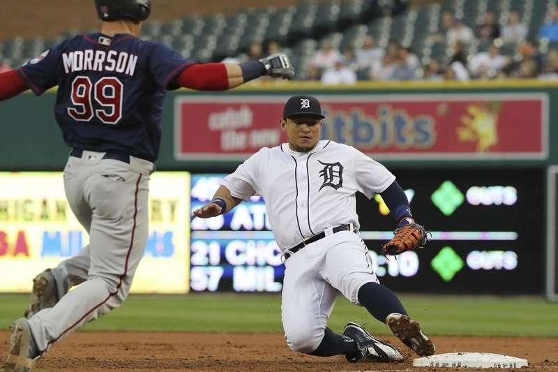 底特律老虎在2014年與卡布雷拉簽了一份為期8年,總價值2.92億美元的合約。 (美聯社)