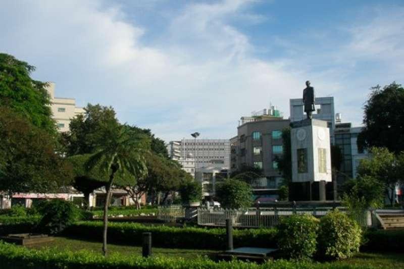 台南市湯德章紀念公園,也稱民生綠園。(取自台南中西區市公所)