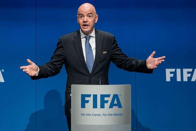 國際足總(FIFA)宣布2026世界盃將參賽隊伍從32隊增加到46隊,這場大大增加包含中華隊在內許多亞洲球隊參加的可能性。(美聯社)