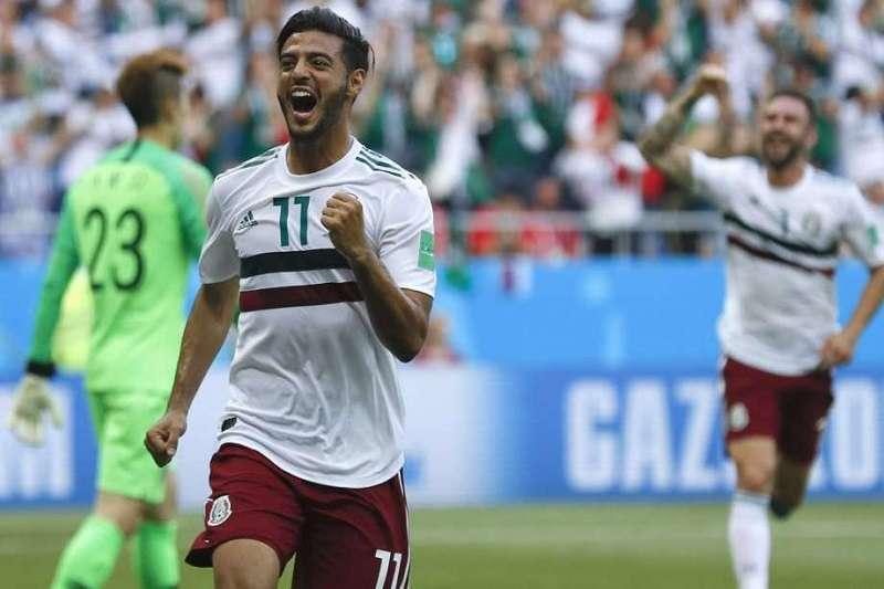 墨西哥的積分目前在F組領先其他三隊,只要今天對上韓國能進兩球就確定晉級。 (美聯社)