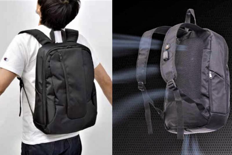 這個自帶涼風的背包,讓你頂著大太陽也不再汗流浹背。(圖/翻攝自ねとらぼ,智慧機器人網提供)