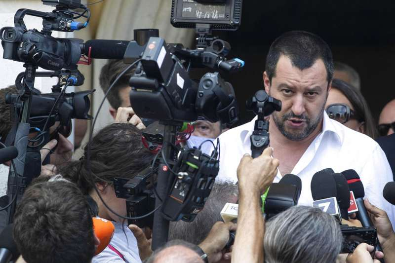 義大利副總理兼內政部長薩爾維尼。(AP)