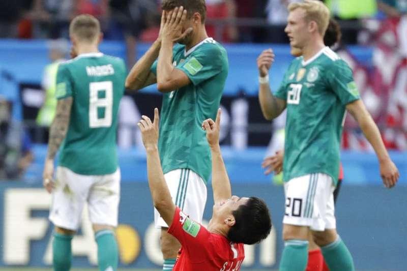 德國意外0-2敗給韓國無緣16強。(美聯社)