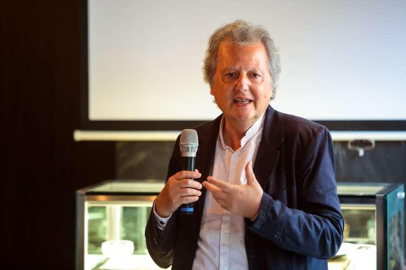 20180629-無國界記者組織法國總部主席韓石29日出席「無國界記者組織和媒體夥伴,攜手啟動信任新聞計畫」座談會。(顏麟宇攝)
