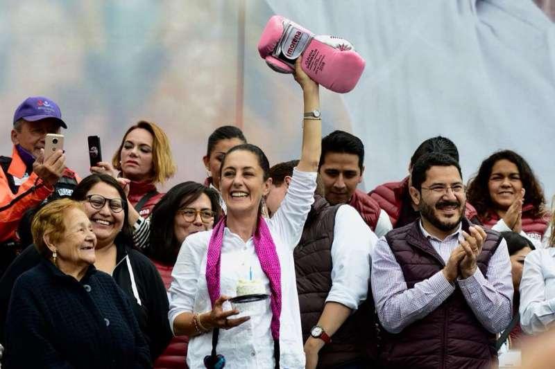 2018墨西哥大選,首都墨西哥市選出首位女市長薛恩鮑姆(Claudia Sheinbaum)(翻攝臉書)
