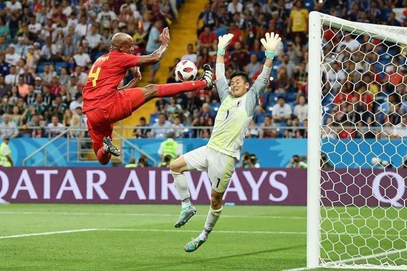 世足十六強淘汰賽,日本對戰比利時,一分飲恨。(FIFA World Cup 官方粉絲頁)