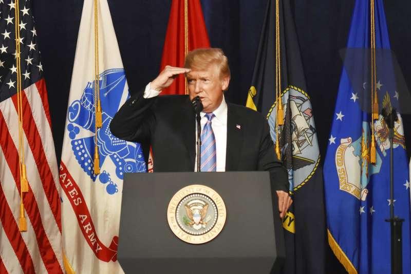美國總統川普。(AP)