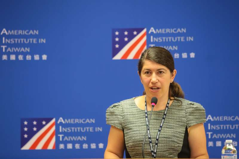20180706-AIT美國在台協會新任發言人孟雨荷(Amada Mansour)。(顏麟宇攝)