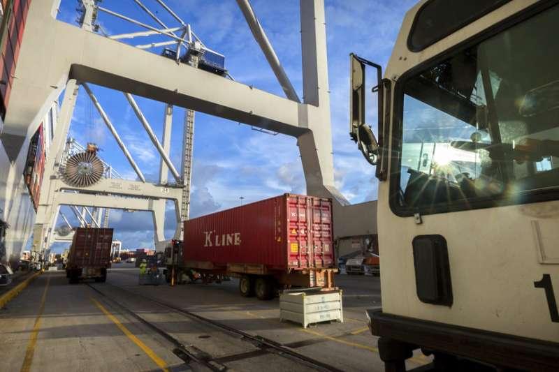 中美貿易戰爆發。(AP)