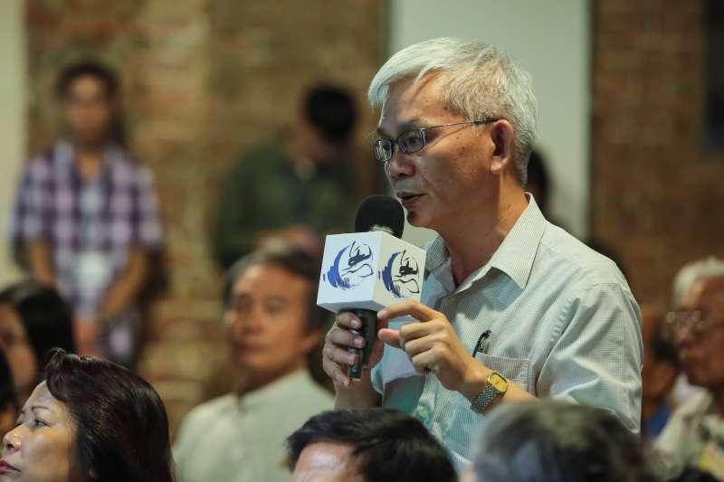 20180707-旺報社長黃清龍7日出席「思沙龍 1968:形形色色的造反」講座。(顏麟宇攝)