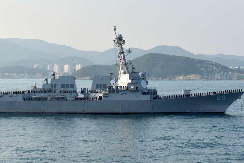 美軍「馬斯廷號」驅逐艦(DDG-89)7月曾航經台灣海峽。(資料照,取自Republic of Korea Armed Forces@wikipedia/CC BY-SA 2.0)