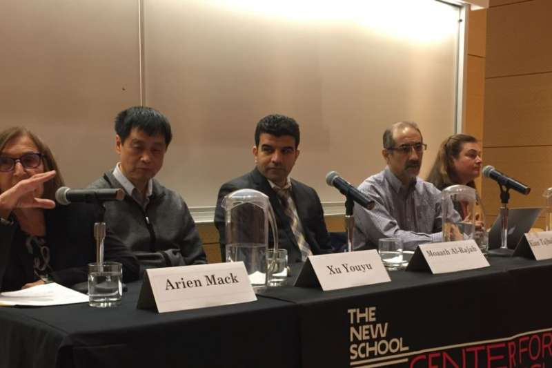 徐友漁參加新學院世界瀕危學者項目舉行「對學術研究的持續威脅」研討會。(美國之音)