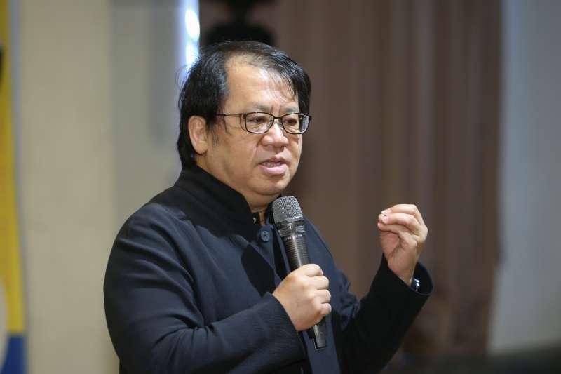 朱宗慶,出席擊樂NEW AGE跨界培育計畫第二屆JPG擊樂實驗室成果發表。(陳明仁攝)
