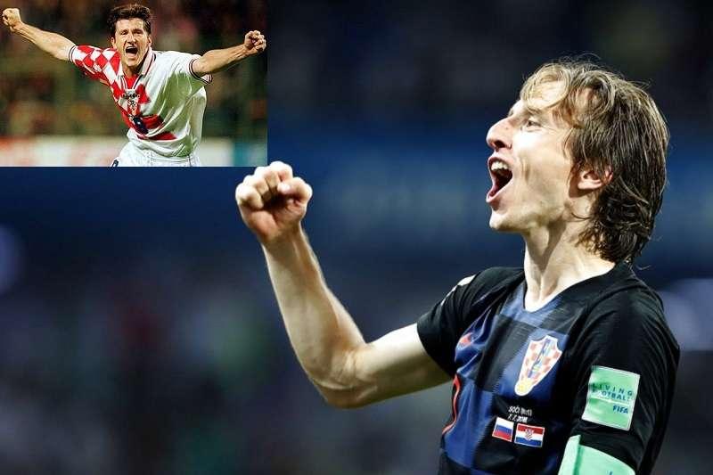 莫德里奇是像前輩蘇克(左上)只把克羅埃西亞帶到季軍?還是更上一層樓闖進決賽呢?(美聯社)