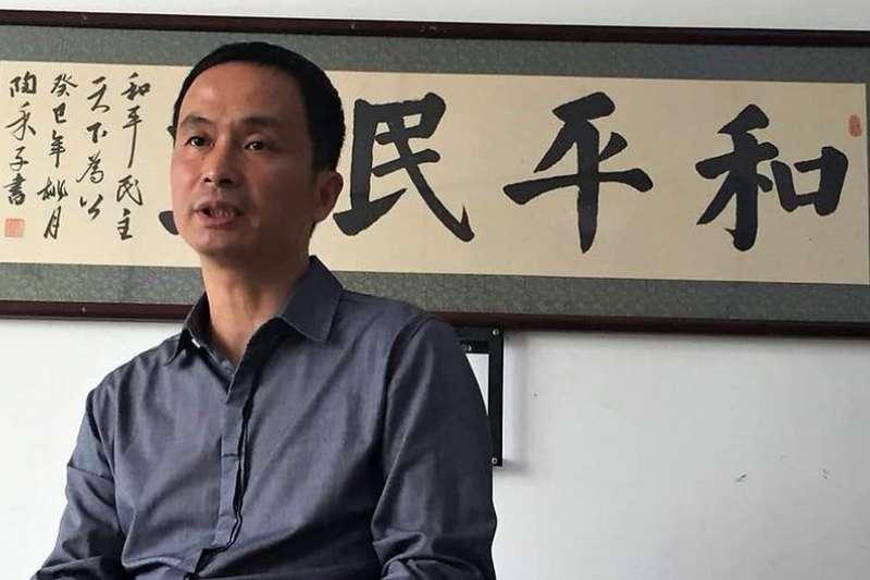 謝燕益2015年7月被捕,一度被控煽動顛覆國家政權罪,去年1月獲准保釋。(德國之聲)