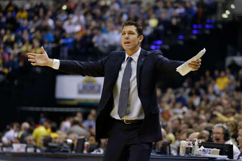 洛杉磯湖人總教練華頓在超級巨星詹姆斯加盟之後,對於球隊戰力提升感到興奮,也因為巨星的加盟讓湖人備感壓力。(美聯社)