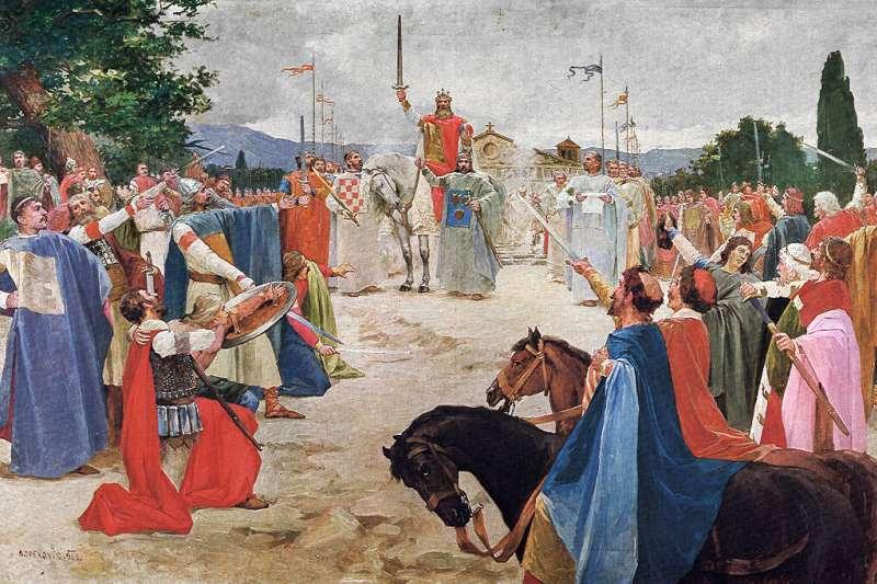 克羅埃西亞王國第一位君王托米斯拉夫(Tomislav)。(Wikipedia / Public Domain)