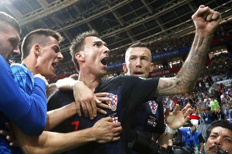 克羅埃西亞闖進決賽,全國為之瘋狂。(美聯社)