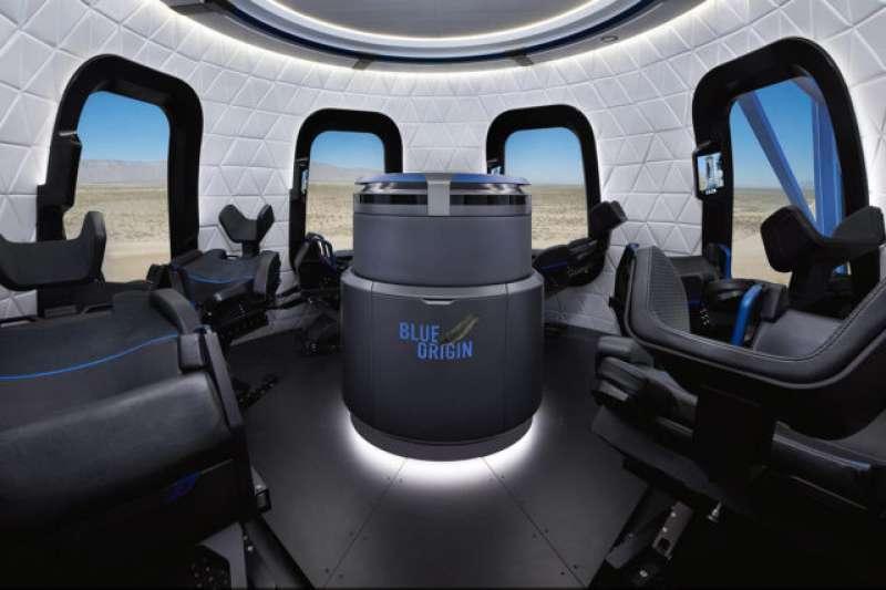 藍色起源「新謝帕德號」機艙內部的樣貌。(取自Blue Origin官網)