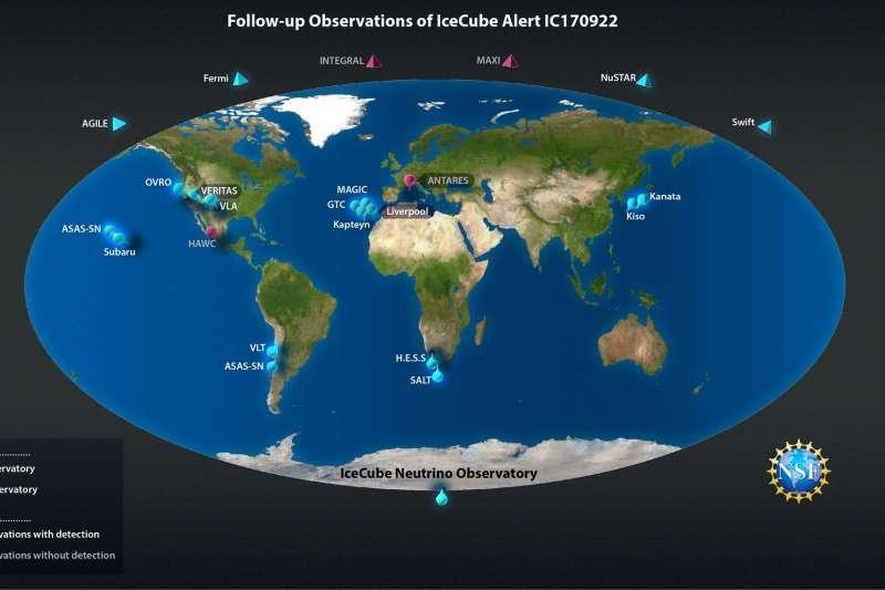 高能微中子全球觀測(Nicolle R. Fuller/NSF/IceCube)