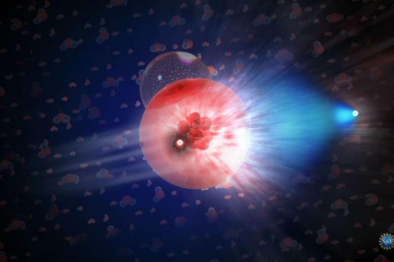 微中子與冰分子的交互作用(Nicolle R. Fuller/NSF/IceCube)