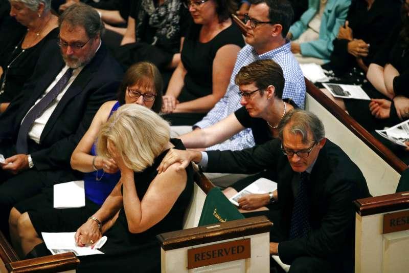 馬里蘭州《首府新聞報》槍擊案死者麥納馬拉的遺孀千布莉。(AP)