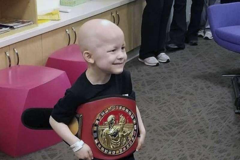 美國5歲癌末小男孩蓋瑞特.麥可.馬西亞斯(Garrett Michael Matthias)(AP)