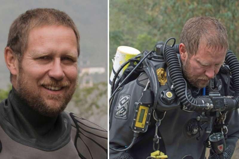 泰國洞穴救援行動的關鍵人物、有30年潛水經驗的澳洲醫師哈里斯(取自網路)