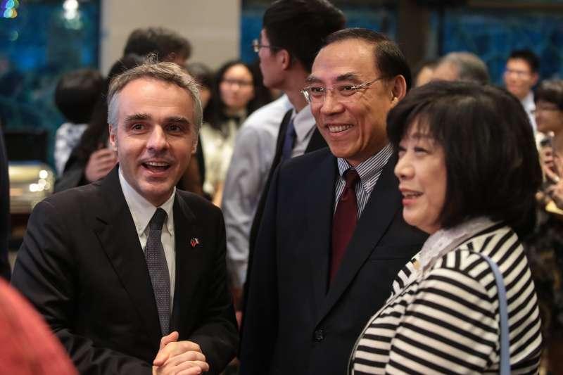 20180714-新任法務部長蔡清祥14日出席法國國慶酒會。(顏麟宇攝)