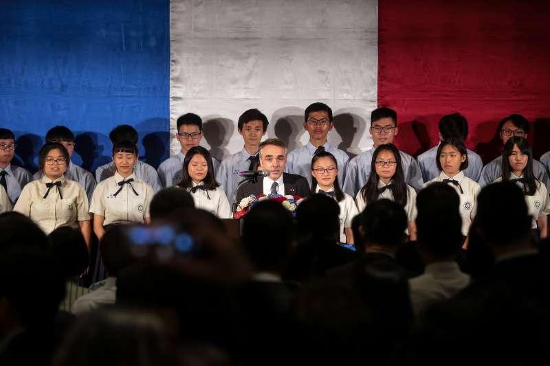 20180714-法國在台協會主任紀博偉14日出席法國國慶酒會。(顏麟宇攝)