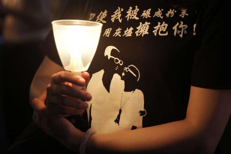中國諾貝爾和平獎得主劉曉波逝世已兩周年。圖為一年前的香港紀念儀式(資料照,AP)