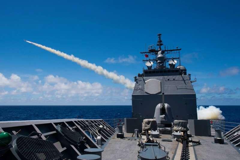 2018年環太平洋軍演(RIMPAC),美軍巡洋艦「普林斯頓號」(USS Princeton)(RIMPAC臉書)