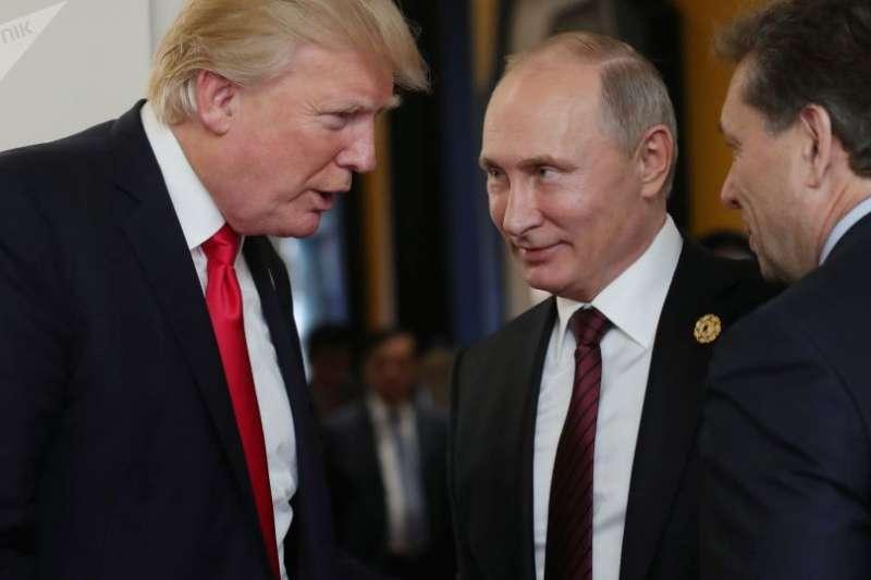 川普與普京。(俄羅斯衛星網)