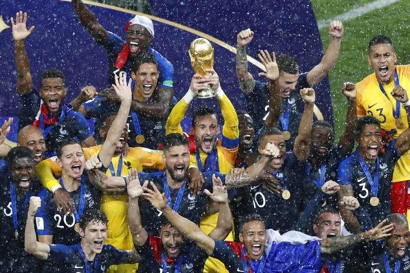 法國世足開踢前,被評估奪冠機率才8%。(美聯社)