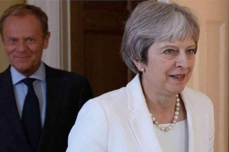 梅伊的最新「軟脫歐」方案公布後,歐盟迄今保持沉默。(BBC中文網)
