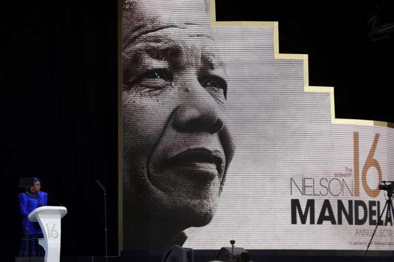 2018年7月17日,南非紀念曼德拉百歲冥誕。(AP)